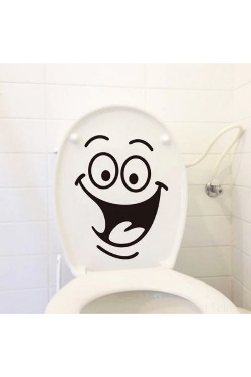 Funny-Smile-Bathroom-Wall-Sticker-online-india