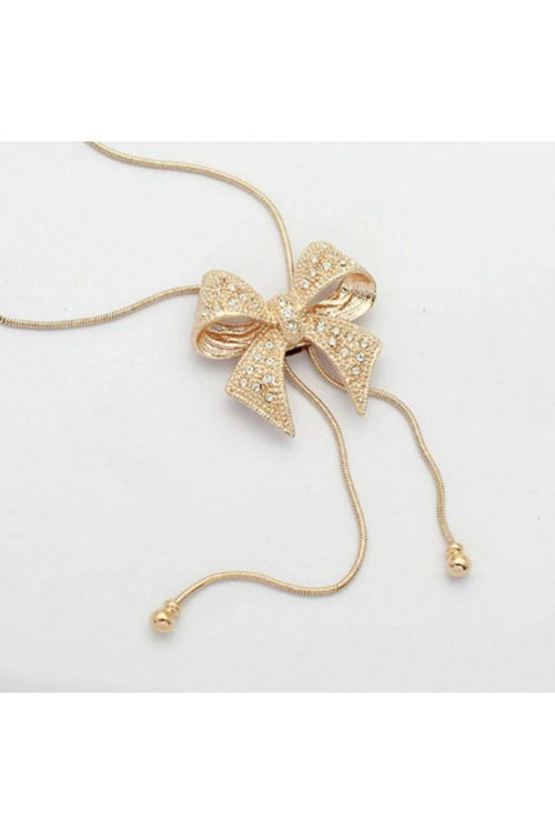 Gold-Bow-knot-Pendant-necklace-budget-shopping-online-india