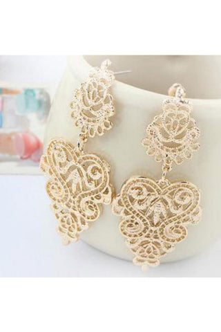 Gold Curve Wave Earrings