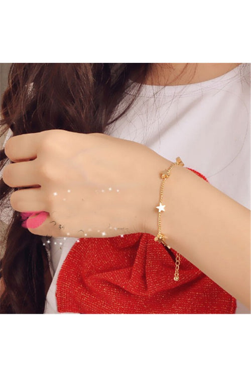 Heart-and-Star-Bracelet-Metallic-the-199-store-everything-rs-199-jewellery-and-accessories