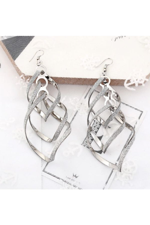 Silver-Exaggerated-Vintage-Multi-Level-Frosted-Earrings-online-budget-online-shopping-in-india
