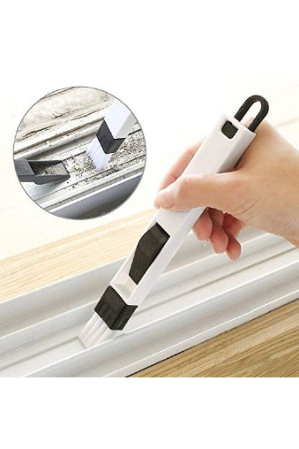 2-in-1 Multipurpose Window Groove Cleaning Brush with Dustpan