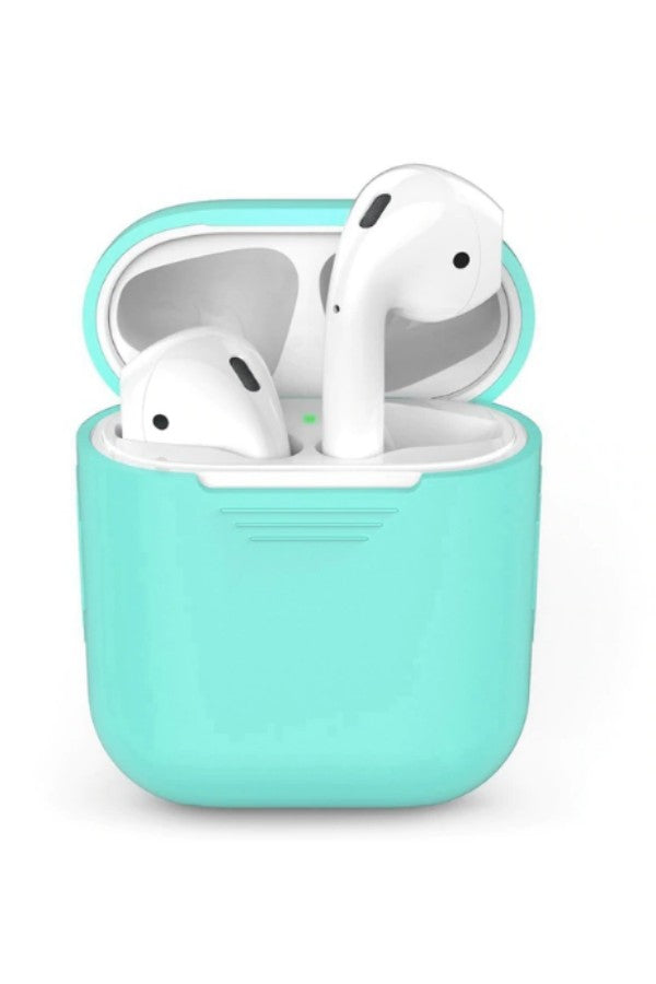 new style f958e 50300 Blue Green Silicone Apple AirPods Case Cover