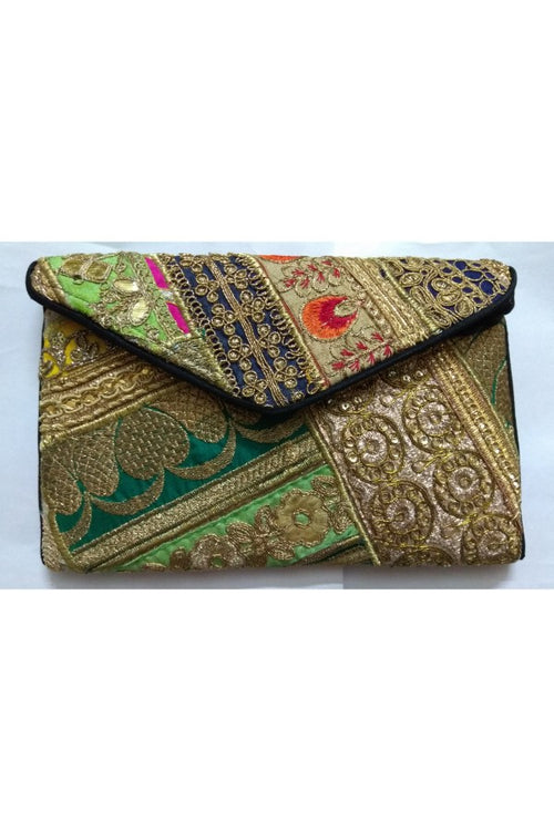ethnic-sling-bag-beige-and-green