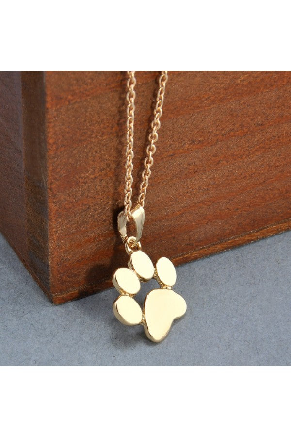 f4815f0203728 Gold Dog Paw Necklace