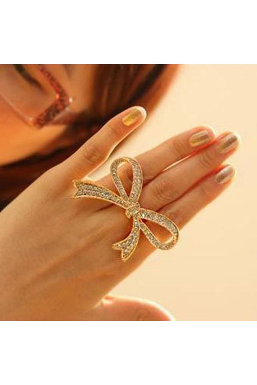 golden-rhinestone-bow-ring-budget-shopping-online-free-shipping-in-india