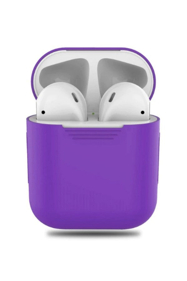 outlet store sale 61282 4d4fa Purple Silicone Apple AirPods Case Cover