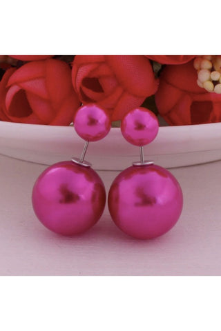 Light Purple Double Pearl Earrings