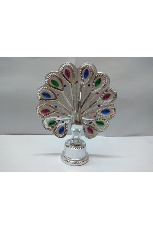 silver-peacock-showpiece-with-multi-coloured-stones