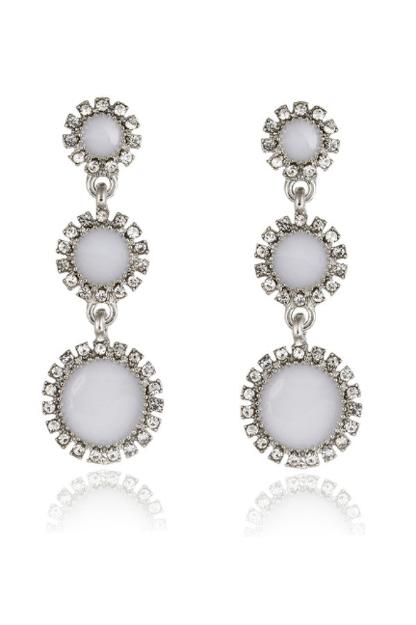 931363253 White Crystal Long Drop Earrings Online for Rs 199 Each – The 199 Store