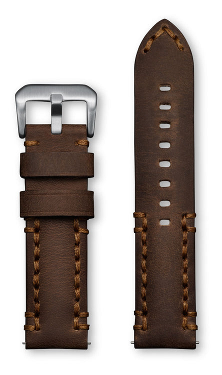 Aeromeister Amsterdam S23 Rodeo vintage brown leather strap with brown handstitching