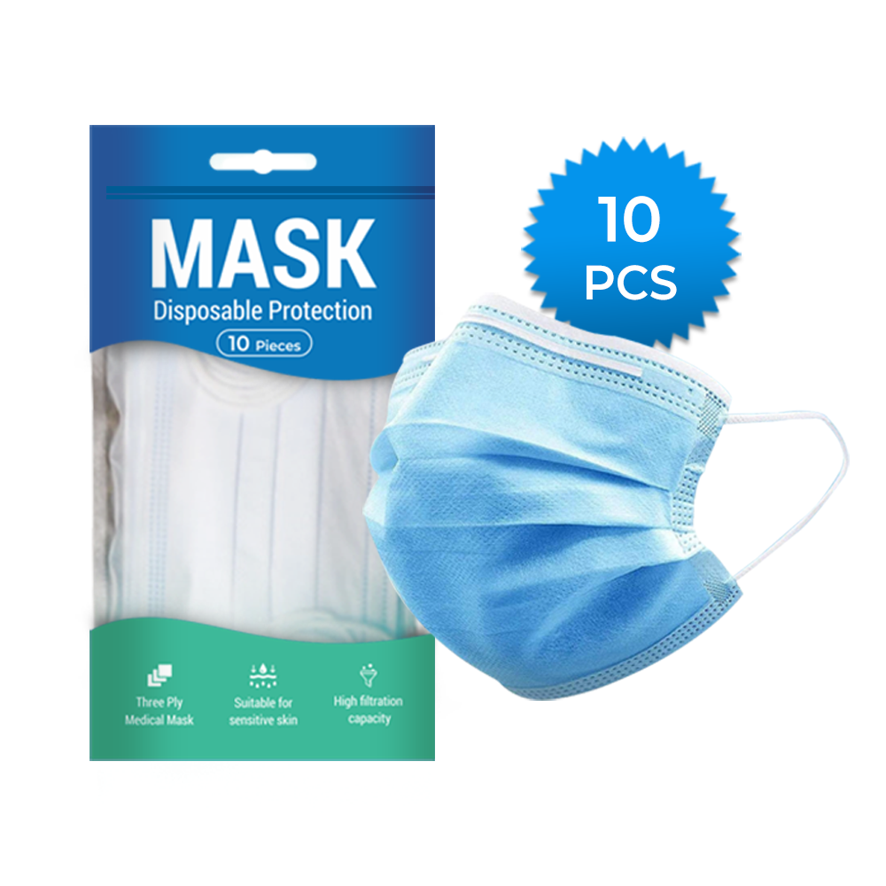 White Spindle Essential Goods Face Mask, Pack of 10