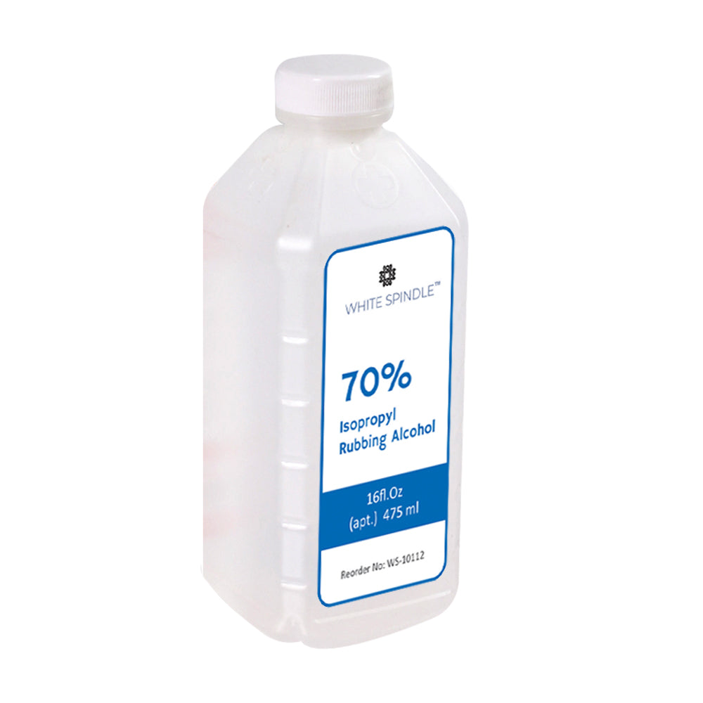 White Spindle Rubbing Alcohol Isopropyl 70%