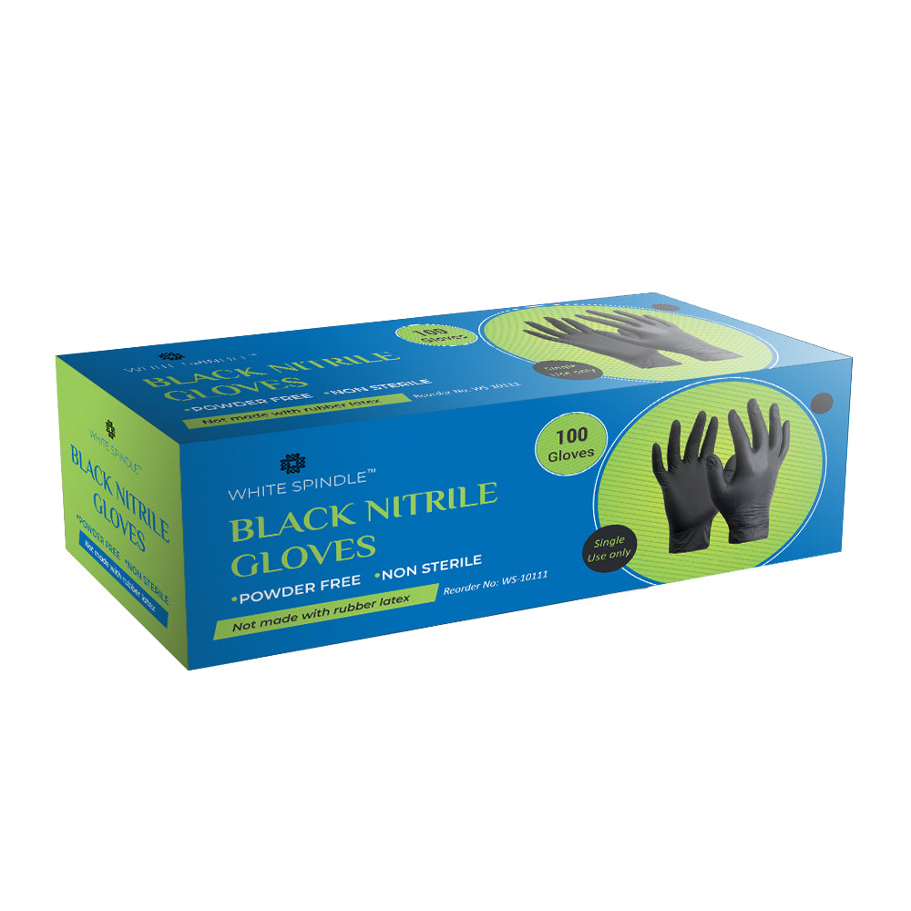 White Spindle Disposable Nitrile Gloves for Exam Gloves Powder Free Kitchen Food Safety Cleaning