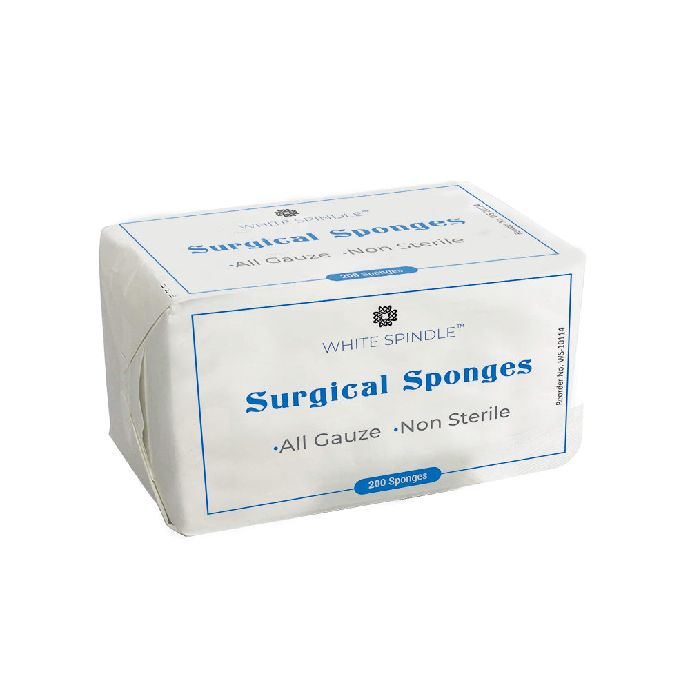 White Spindle 3'' x 3'' Sterile Gauze Pads for Wound Dressing| 100-Pack, Individually Packed Pouches| 12-Ply Cotton & Highly Absorbent| Gauze Sponge-Pads for Wound Care & Home First Aid Kits