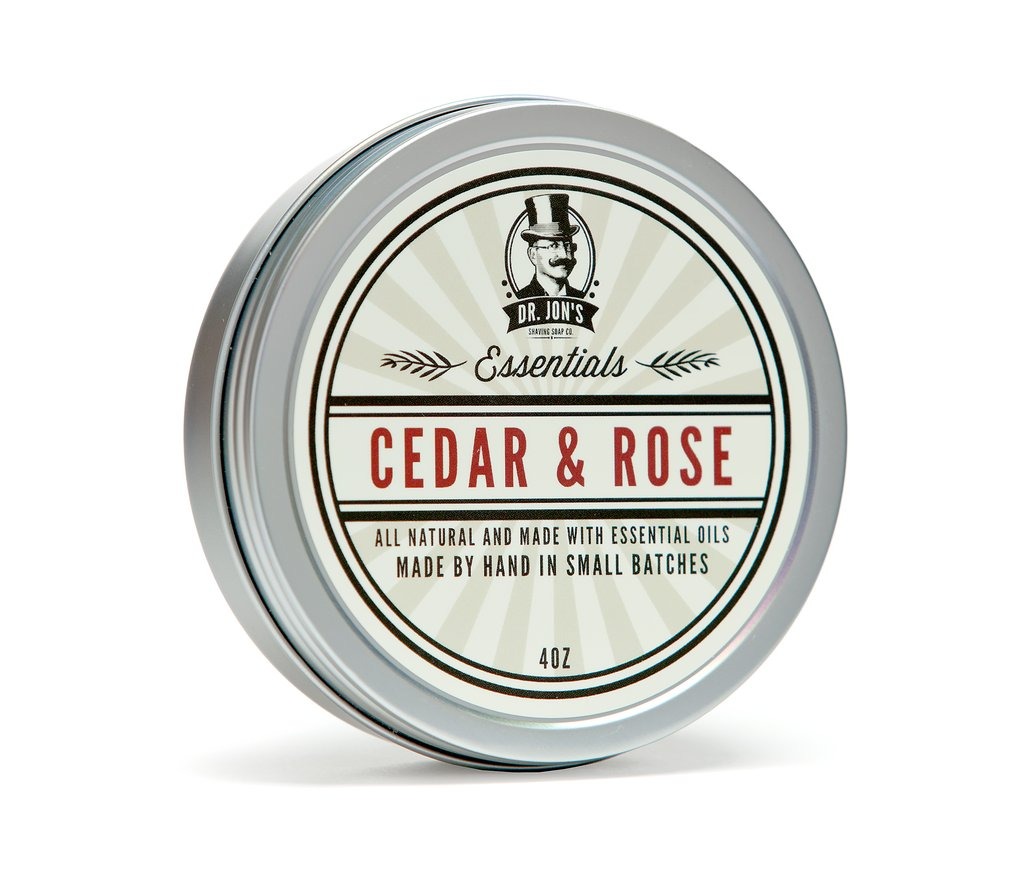 Cedar & Rose Vegan Shaving Soap
