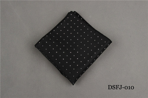 White Dot Pocket Square