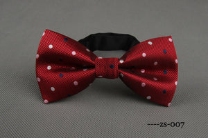 Red/White/Blue Polka Bowtie