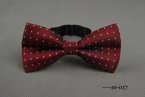 Wine X-Patterned Bowtie