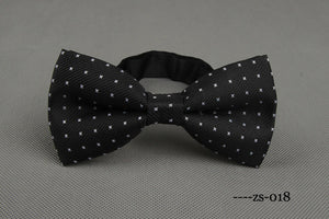 Black X-Patterned Bowtie