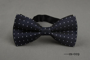 Navy X-Patterned Bowtie