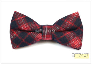 Red/Blue Plaid Bow Tie