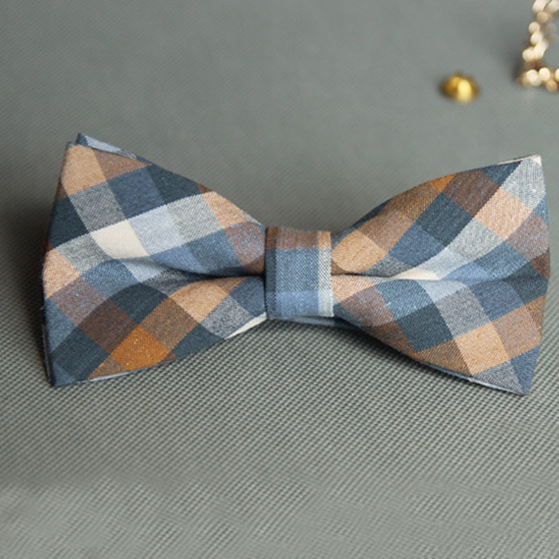 Orange Nouveau Plaid Bowtie