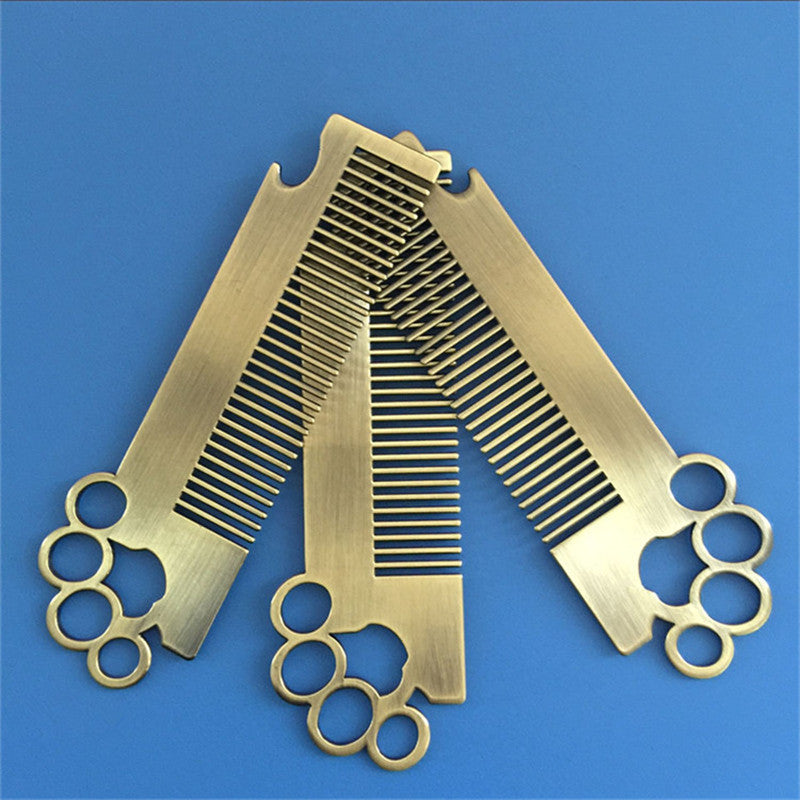 Stainless Steel Beard Comb+Bottle Opener