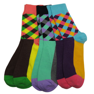 Colorful Plaid Socks