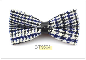 Black/Blue Plaid Bowtie