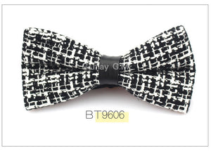 Black/White Tweed Bowtie