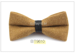 Camel Flannel Bowtie