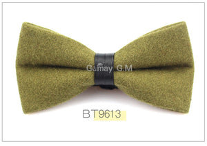 Chartreuse Flannel Bowtie