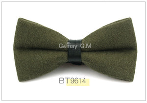Olive Flannel Bowtie