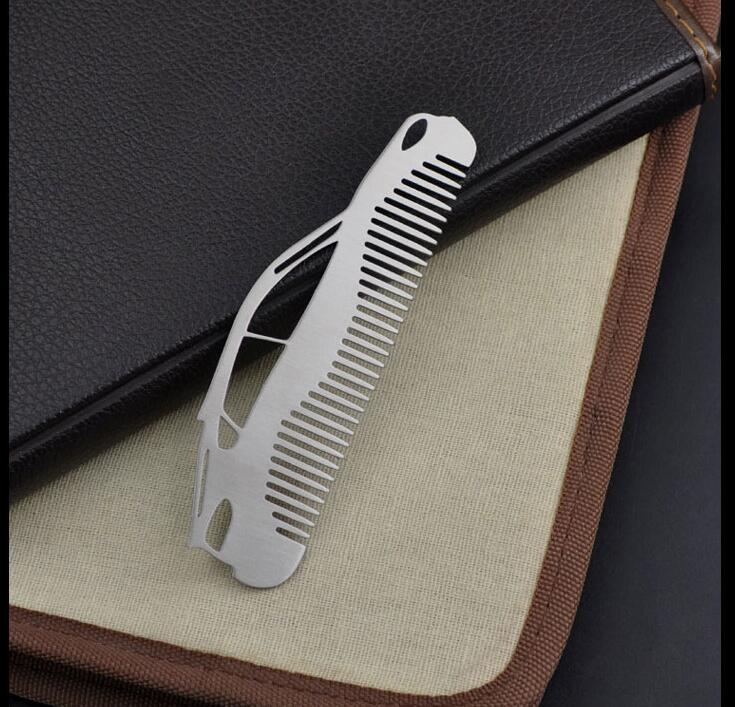 Curved Stainless Beard Comb
