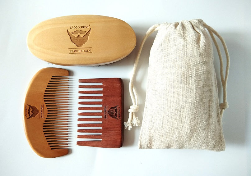 Beard Brush Grooming Kit