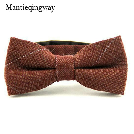Rust Flannel Plaid Bowtie
