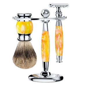 The Orange Swirl Safety Razor Kit