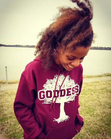 Goddess Fleece Hoodie (Unisex Sizes)