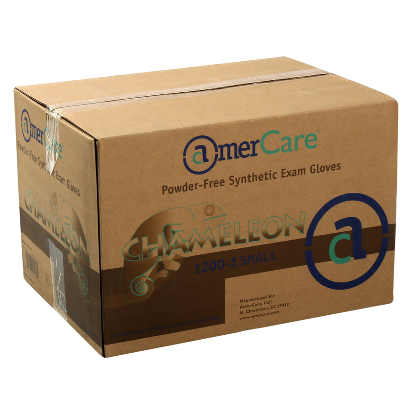 12001 | Glove, Exam Grade, Chameleon, Synthetic, PF, Small, 100/Box - 10 Box/Case Case Front