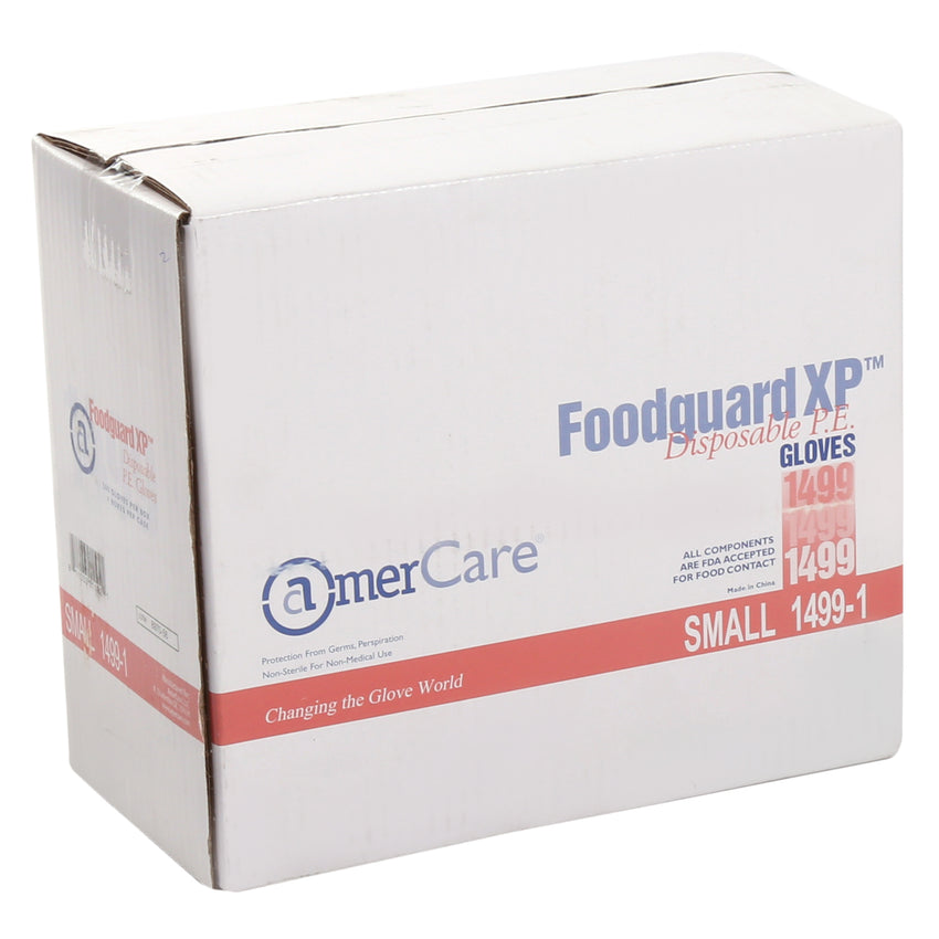 14991 | Glove, Foodguard, Embossed HDPE, PF, Small, 4/500 Case Front