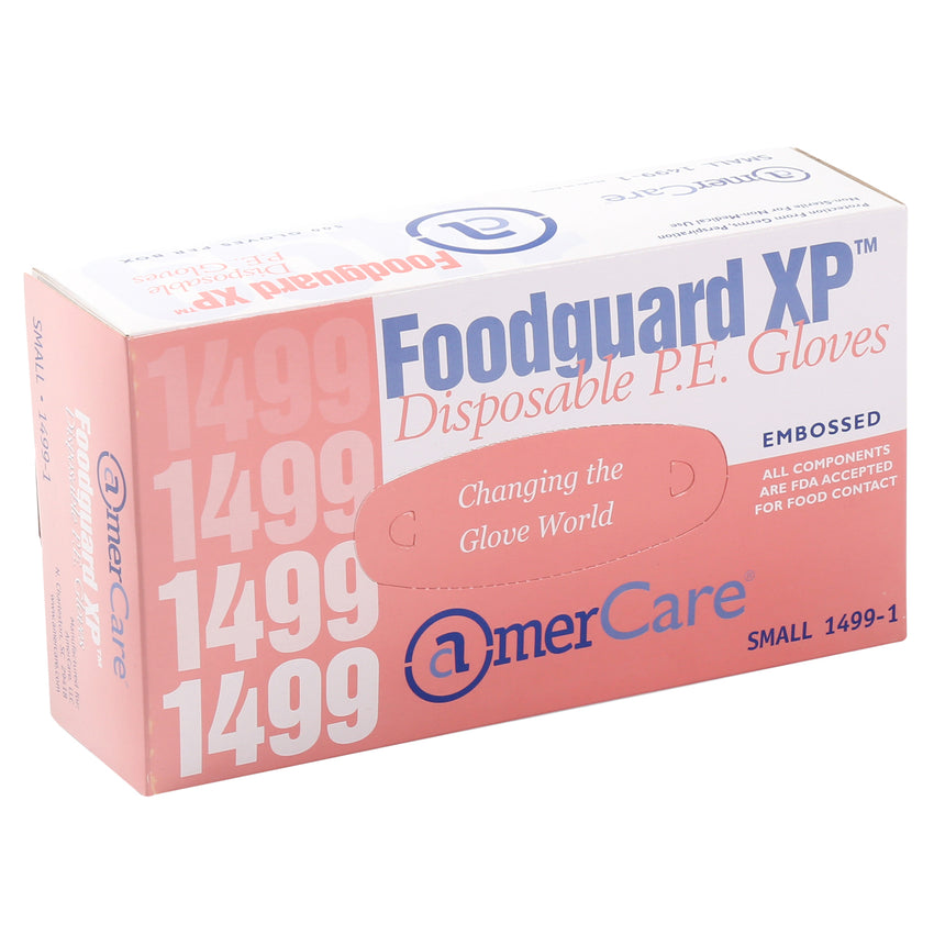14991 | Glove, Foodguard, Embossed HDPE, PF, Small, 4/500 Inner Standing