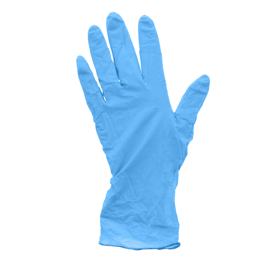 20991 | Glove, Pacific Blue, Nitrile, Soft, PF, Small, 100/Box - 10 Box/Case Glove Flat