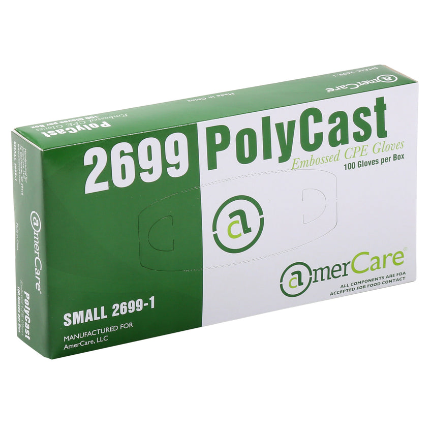 26991 | Glove, Polycast, Textured, PF, Small, 100/Box - 10 Box/Case Inner Standing