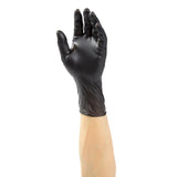 28991 | Glove, Bandit Black Vinyl, PF, Small, 100/Box - 10 Box/Case Glove on Hand