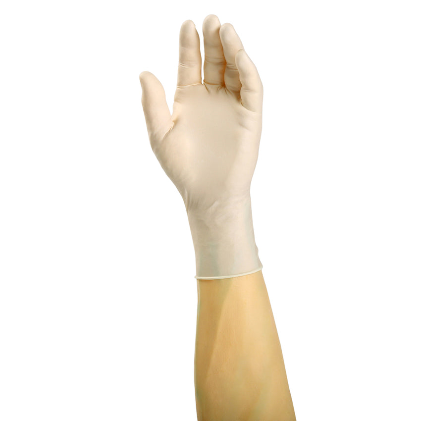 3000 | Glove, Exam Grade, Ultra Flex Latex, PF, X-Small, 100/Box - 10 Box/Case Glove on Hand