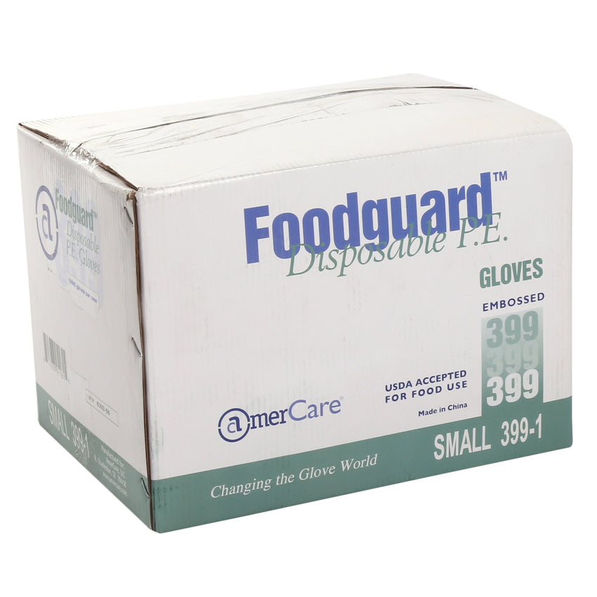 3991 | Glove, Foodguard, Embossed HDPE, PF, Small, 10/10/100 Case Front