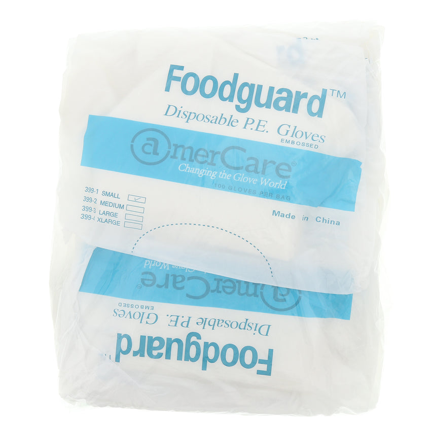 3991 | Glove, Foodguard, Embossed HDPE, PF, Small, 10/10/100 Inner Standing