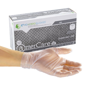 Powder-Free Hybrid C2 HD Hybrid Gloves, Case of 1000