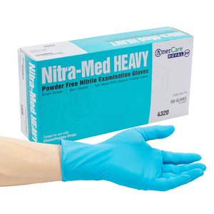 Nitra-Med Heavy Powder Free Nitrile Exam Gloves